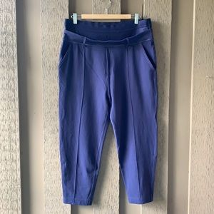 Lululemon Double Waistband Plum Crop Pants